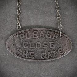 tabliczka please close the gate