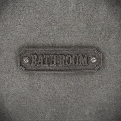 Emlbemat / tabliczka do łazienki z napisem bathroom