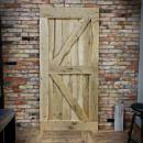 oak door with nails