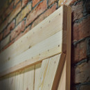 x style pine sliding door