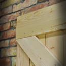 x style wooden door