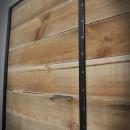 light brown door in frame