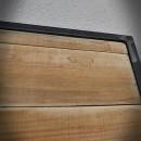 pine door in frame