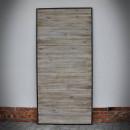 grey old styled pine door