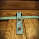 Guide sliding door rusty green patina