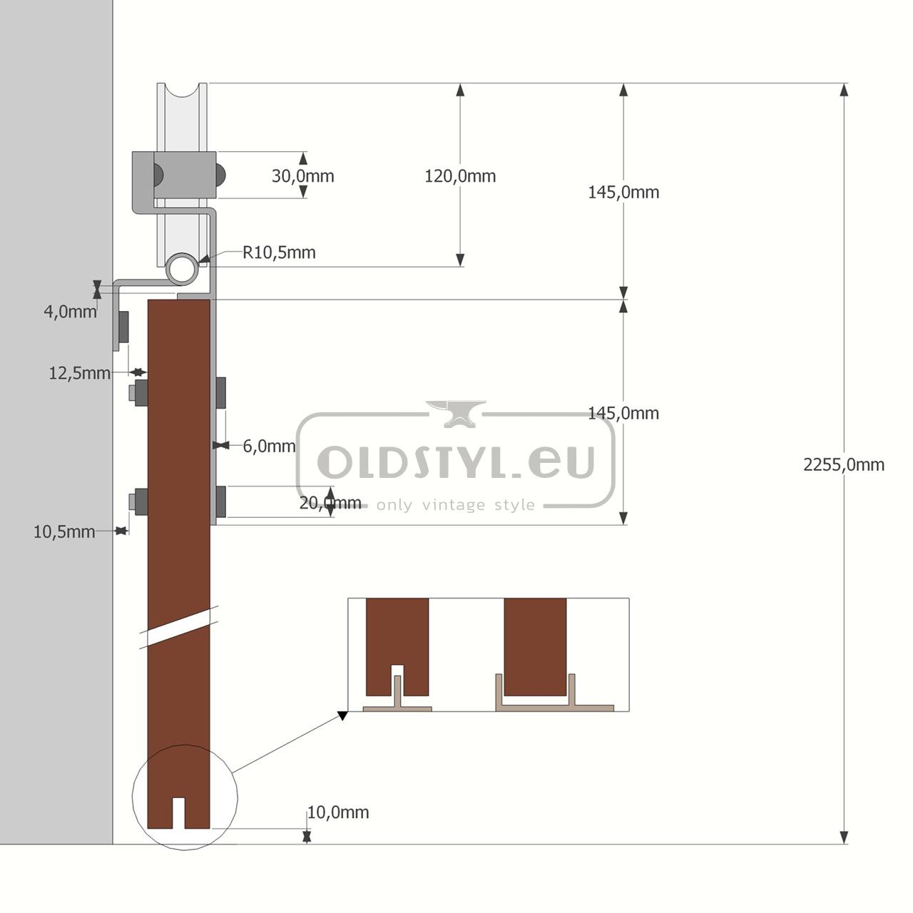 overview scheme door guide barn doors