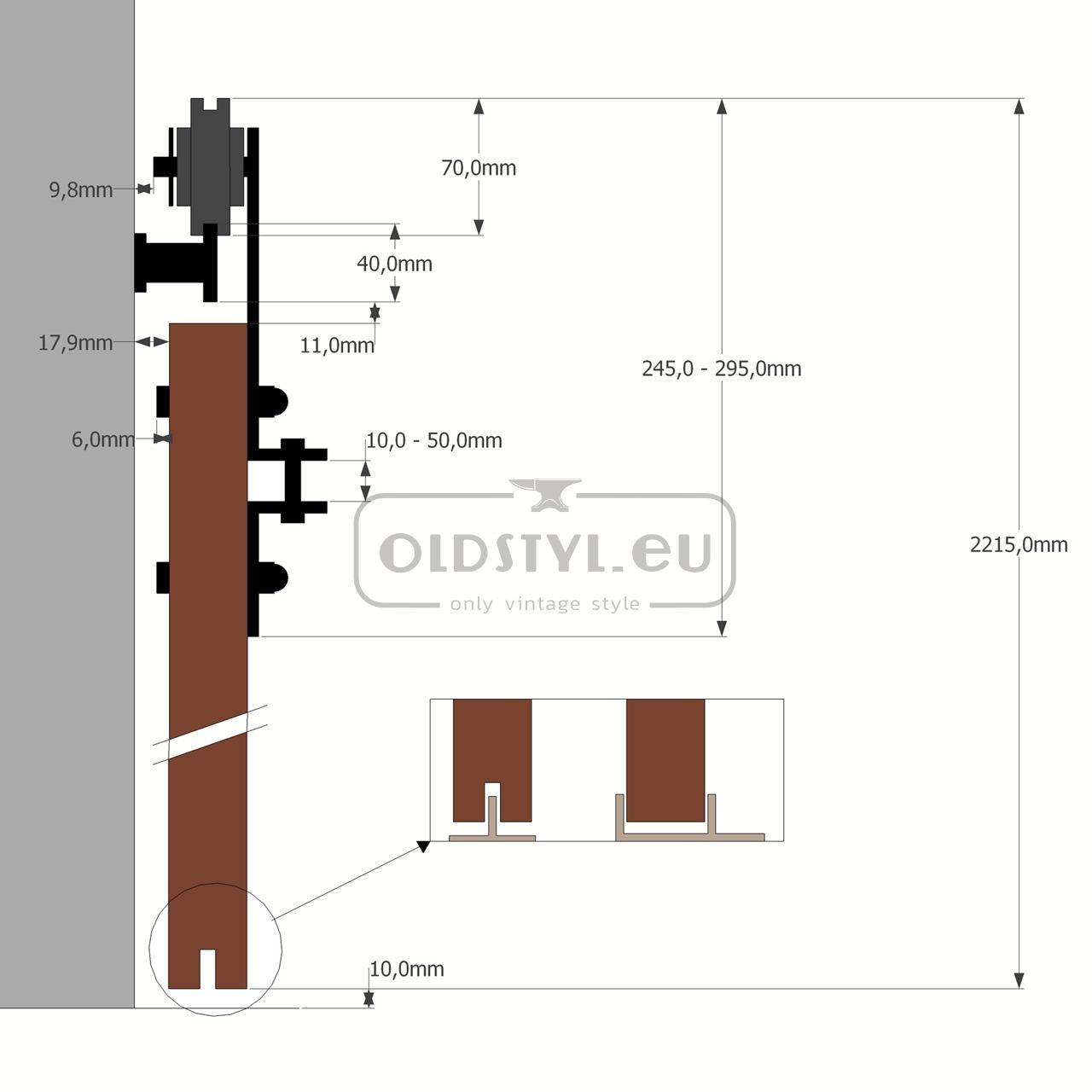 overview scheme door guide retro